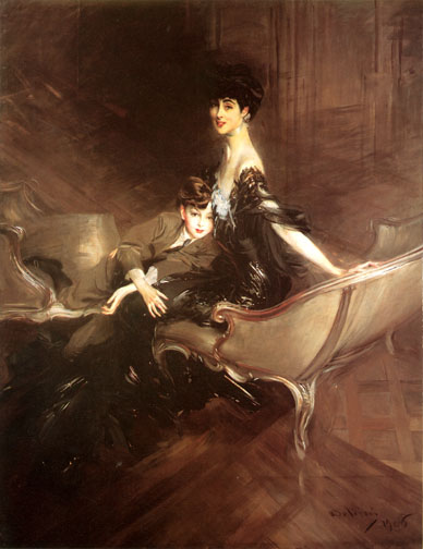 Consuelo Vanderbilt and son