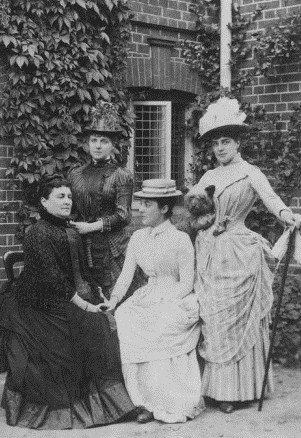 The Jerome sisters - Jennie Clara and Leonie Jerome with their mother