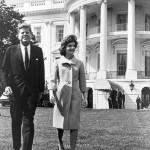JFK and Jackie Kennedy at the White House
