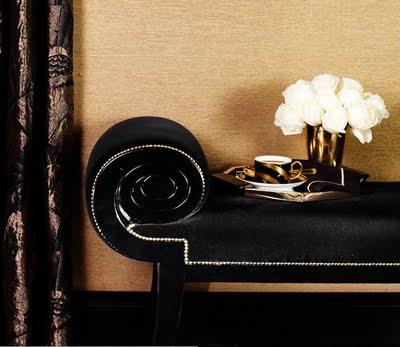 ralph lauren home one fifth collection - black and gold design