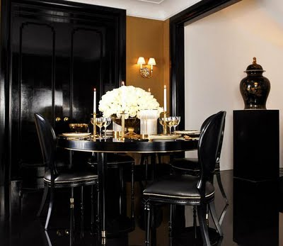 Interior and aRt Files: Black and Gold Decor