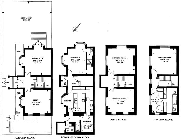 tom ford - house - 26 gilston road chelsea london - floor plan
