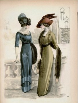 Vintage Edwardian fashion poster