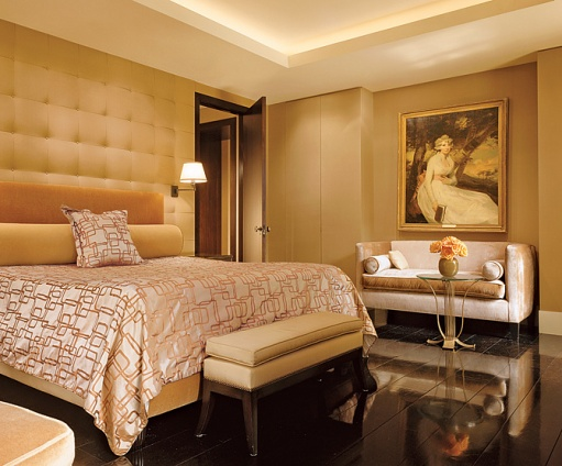Bedroom - A Manhattan penthouse by designer Charles Allem