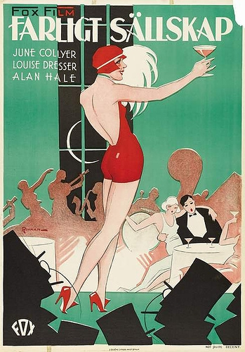 Not Quite Decent 1929 poster - Art Deco fashion illustration