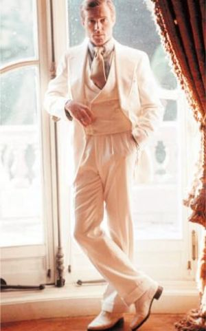 Photos of Robert Redford as Jay Gatsby in the 1974 film version of The Great Gatsby