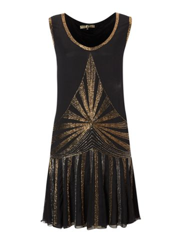 Biba Embellished Flapper Sleeveless Dress