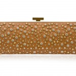 Elie Saab Long Structured Leather And Crystal Clutch