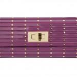 Elie Saab Twist Lock Structured Clutch in purple