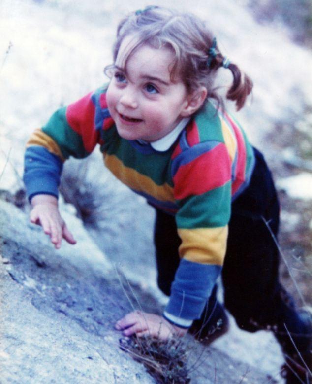 Kate Middleton as a child