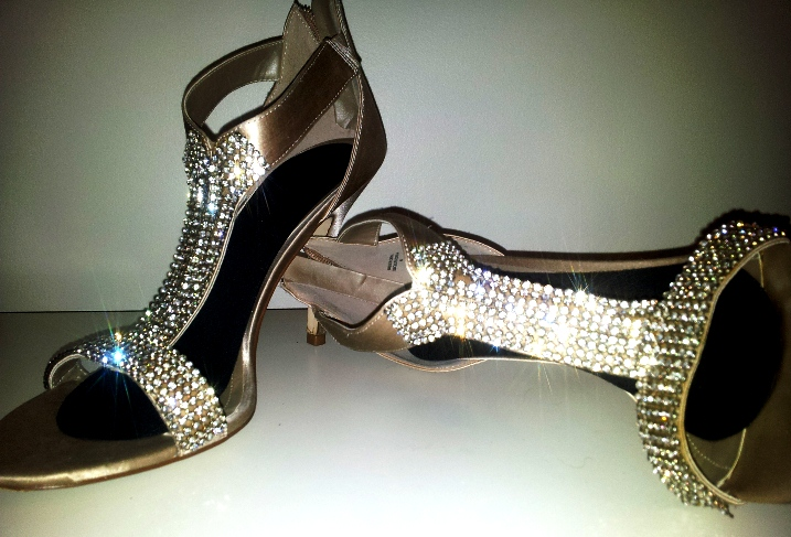 Luscious silver bling shoes from the wardrobe of Natasha Wood of myLusciousLife