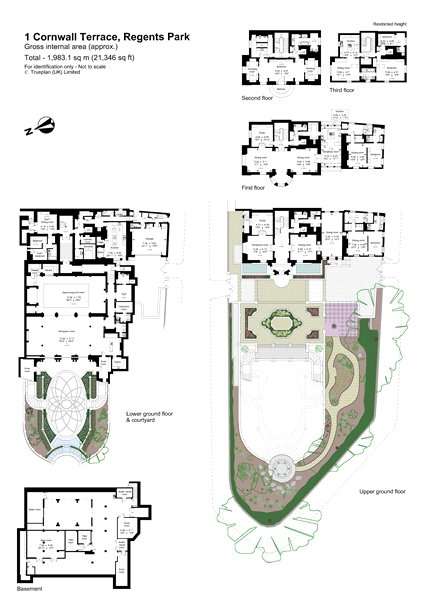 One Cornwall Terrace Garden - floorplan