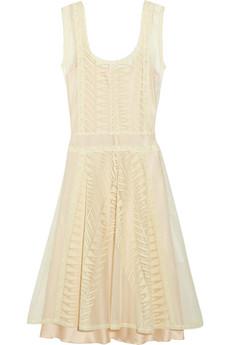 Philosophy Di Alberta Ferretti White Cream Lace And Cotton Tulle Dress