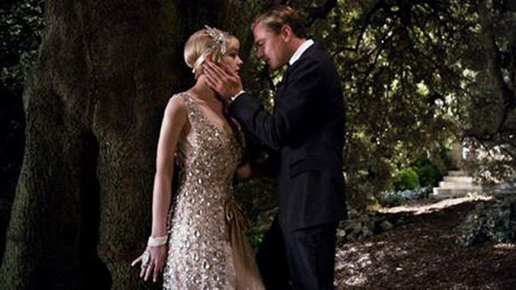 The-Great-Gatsby-2013 with Carey Mulligan as Daisy and Leonardo DiCaprio as Gatsby