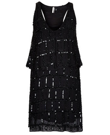 Topshop LIMITED EDITION Black beaded Flapper dress