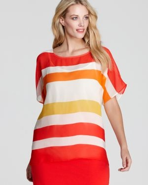 VINCE CAMUTO Plus colourful striped top