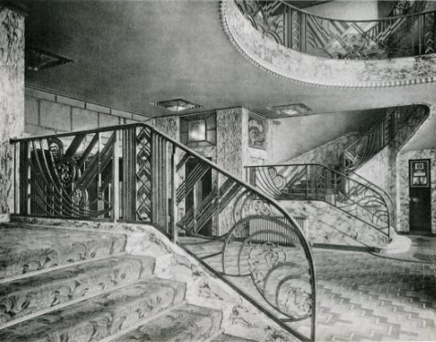 Art Deco staircase - black and white photos