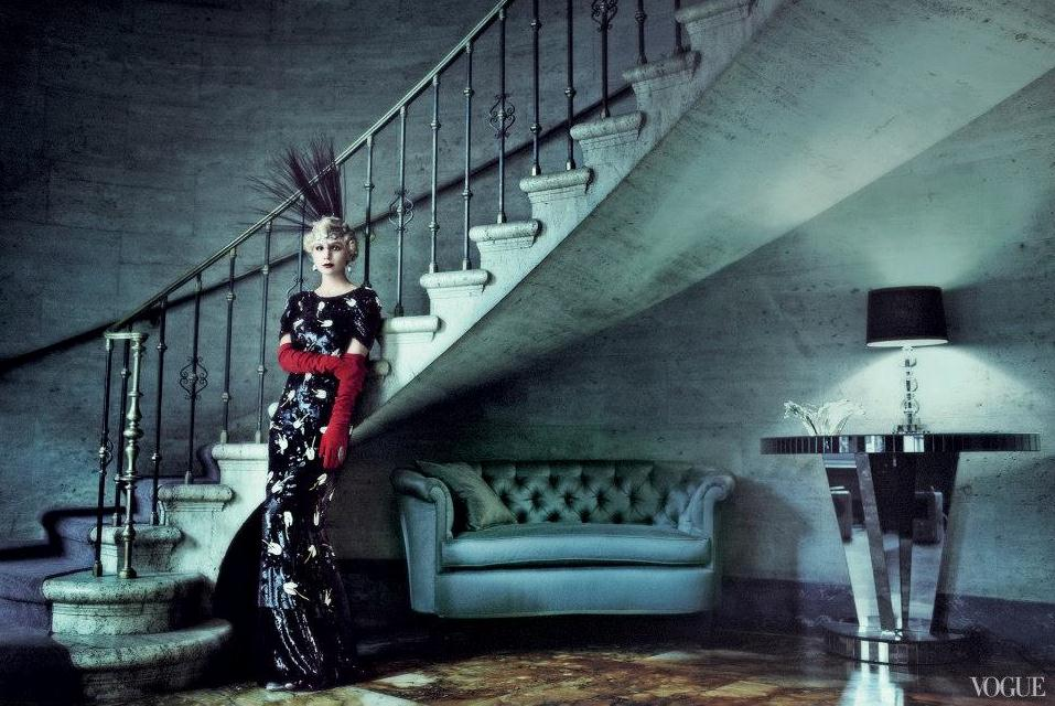 Carey Mulligan - Grace Coddington and Mario Testino - Vogue May 2013