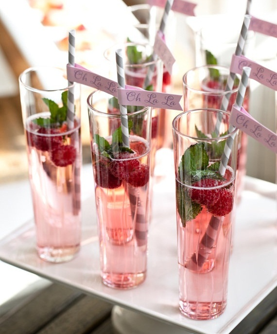 Luscious entertaining - mocktails - pretty pink cocktails