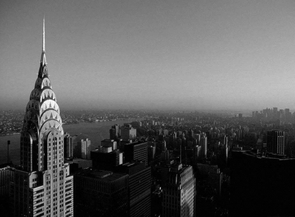 The Chrysler building in 1920s Art Deco style architecture - New York