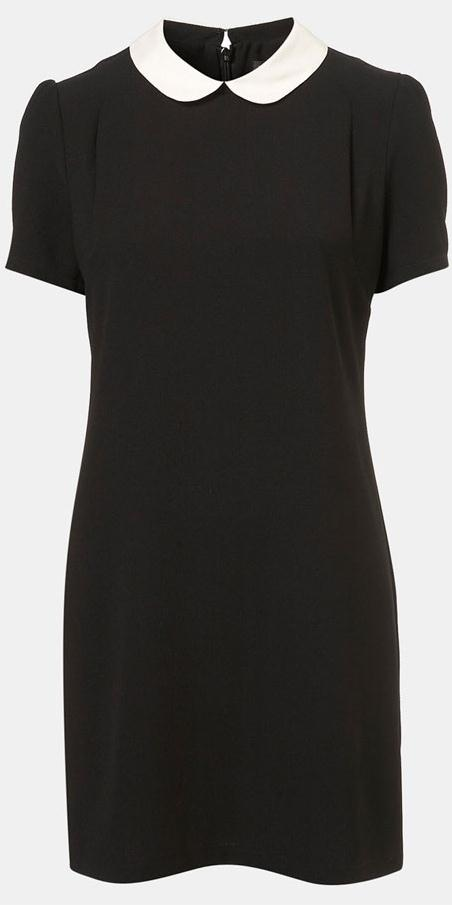 Topshop Contrast Collar Dress worn by Kate Middleton