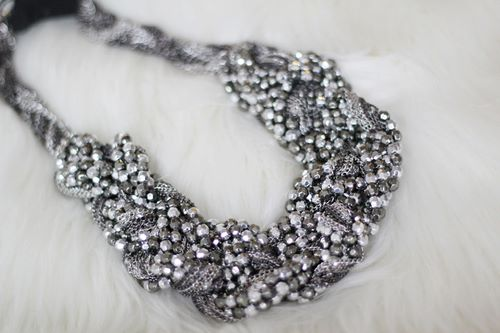 Vintage glam - Inspired by The Great Gatsby - beautiful necklace and fur