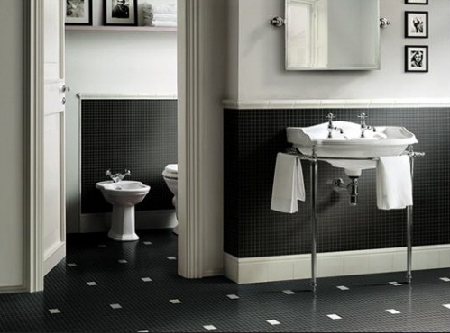 Black And White Interiors Bathroom Interiors