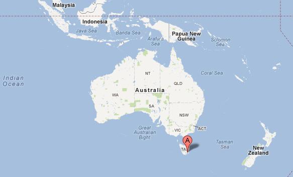 Hobart-Australia-map