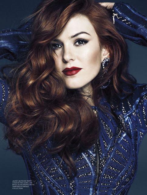 Gatsby actress Isla Fisher by Chris Nicholls for Fashion Magazine May 2013