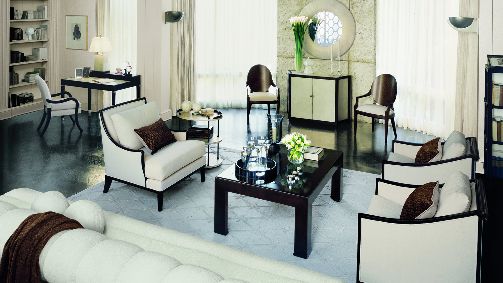 Gatsby style embrace the lifestyle of the great gatsby for Art deco living room design