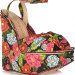 Charlotte Olympia Melody floral-print crepe de chine wedge sandals