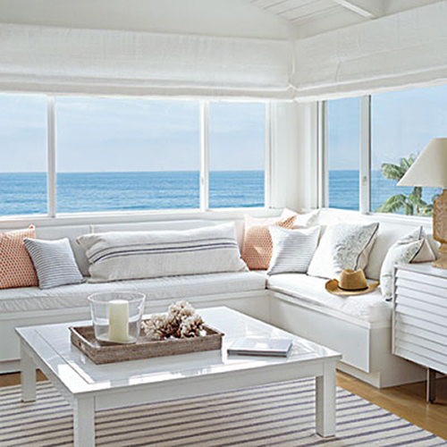 A beachy life beach house decor for Beach house living room ideas