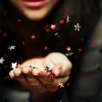 blowing star confetti