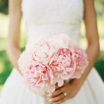 Help me with my wedding - white wedding dress and pink peonies