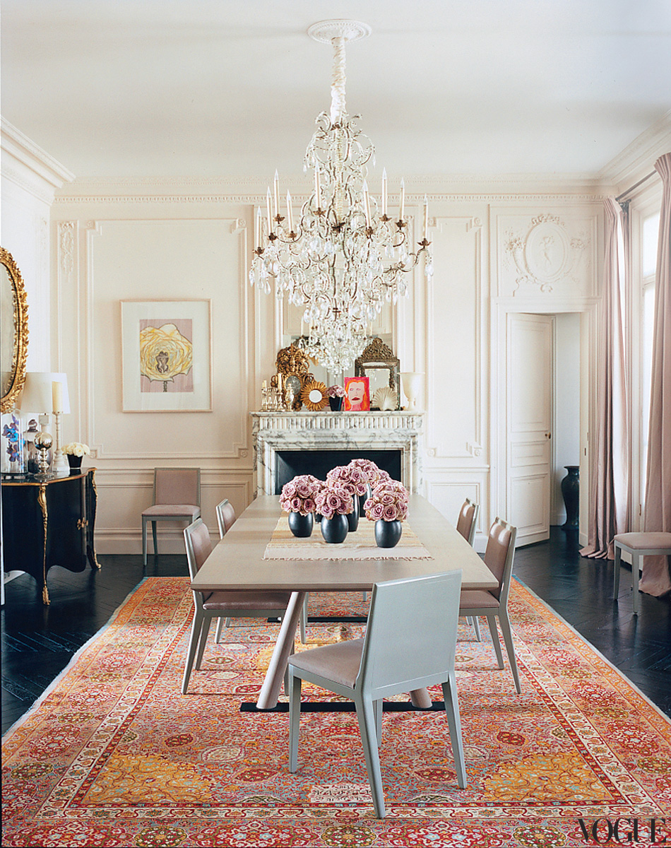 Famous folk at home l wren scott and mick jagger in paris for Parisian home