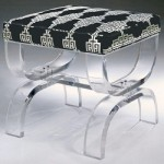 Images of lucite crystal and glass - lucite Mambo Bench