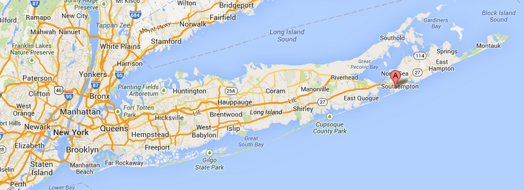 Hamptons New York Map.Famous Folk At Home Tory Burch S Home In Southampton