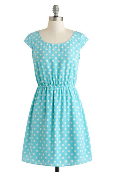Kate Middleton style - ModCloth True Blue Charmer Dress
