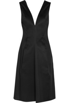 LBD - Jil Sander Ninety Nine cotton-sateen dress