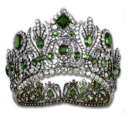 Royalty Pinterest board - Diadem from Empress Marie-Louise's Emerald Parure