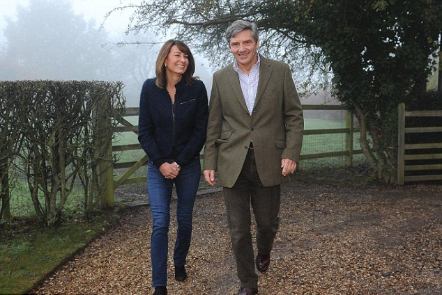 Michael and Carole Middleton outside their home in Bucklebury