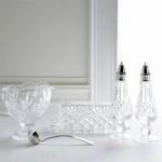 Vintage crystal dining room accessories via myLusciousLife.com