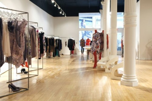 Shopping in Soho - Zimmerman store in SoHo Lower Manhattan