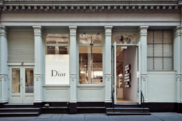 Dior Homme pop-up store in SoHo New York