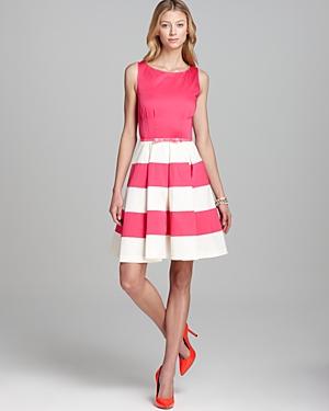 Kate Spade Celina Dress In Pink White Stripe