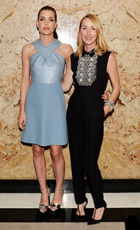 Gucci Cosmetic launch - Charlotte Casiraghi and Gucci Creative Director Frida Giannini
