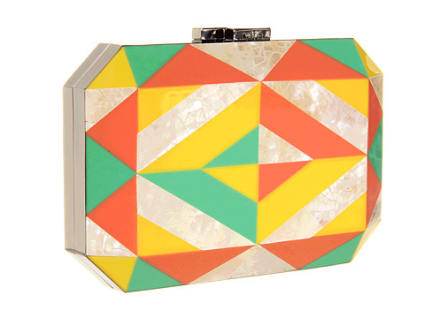 Rafe New York - multi-coloured Dawn Minaudiere Yellow-Green-Orange clutch bag