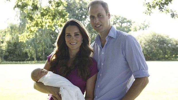 First Prince George baby photos