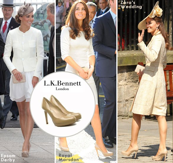 Kate Middleton and her  LK Bennett heels