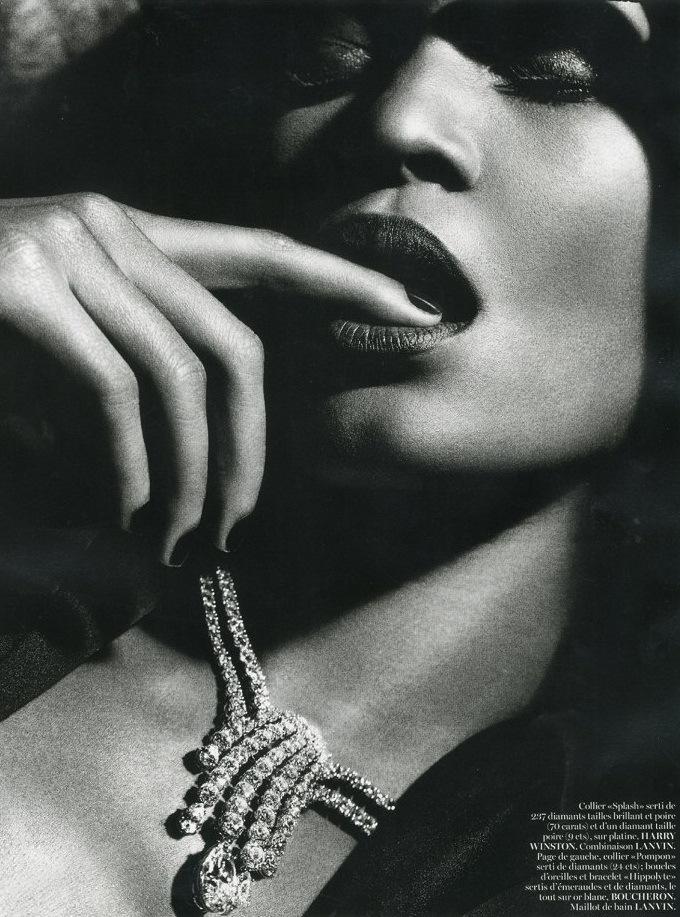 Joan Smalls by Mario Sorrenti for Vogue Paris June-July 2013